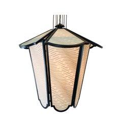 Fortuny Lozenge Silk Lantern Pendant by Lutyens