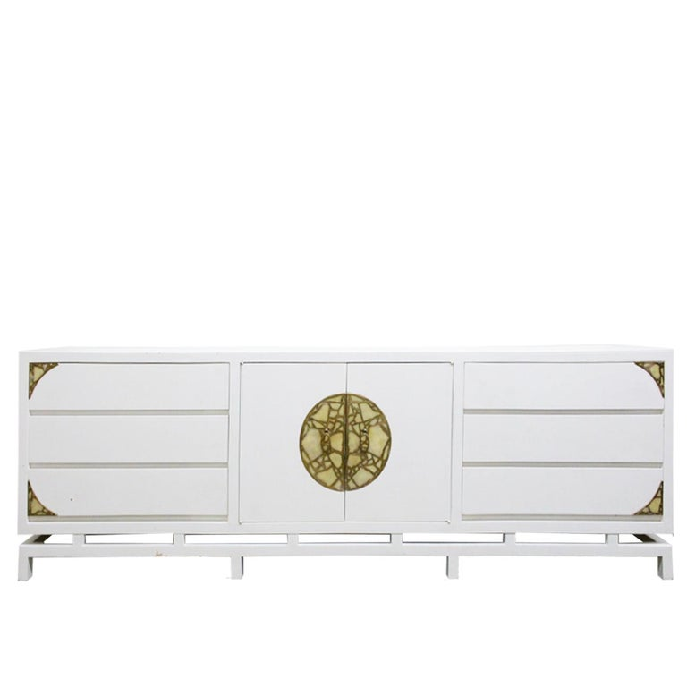 Lacquered Credenza/Dresser by Pepe Mendoza with Ornamental Hardware