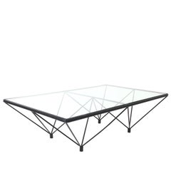 Iron and Glass Coffee Table in the Style of Paolo Piva