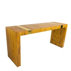 Rosewood and Brass Console Table by Milo Baughman for TC