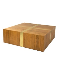 Rosewood and Brass Coffee Table by Milo Baughman for TC