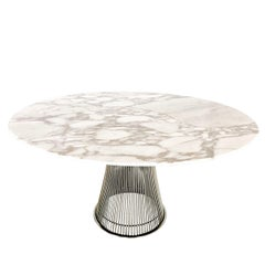 Warren Platner Dining Table with Carrara Marble Top
