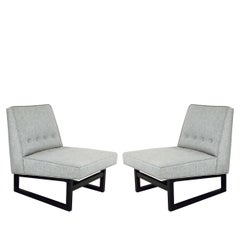 Pair of Dunbar Slipper Chairs by Edward Wormley Model 9611