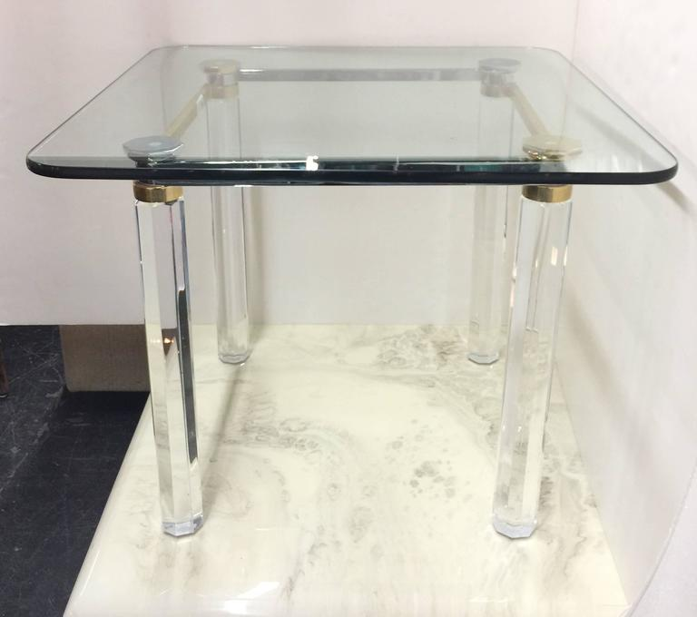 Lucite brass and chrome game table by lion in frost at - Congelateur table top no frost ...