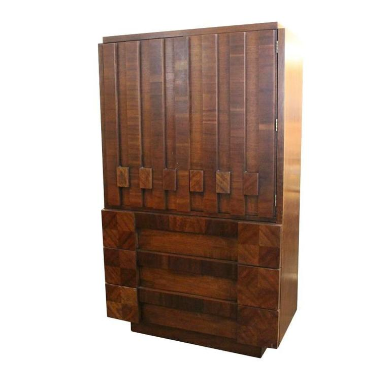 1970s Brutalist Cabinet By Lane For Sale At 1stdibs
