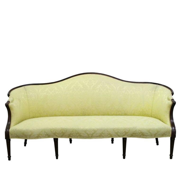 Wood Wrapped French Sofa