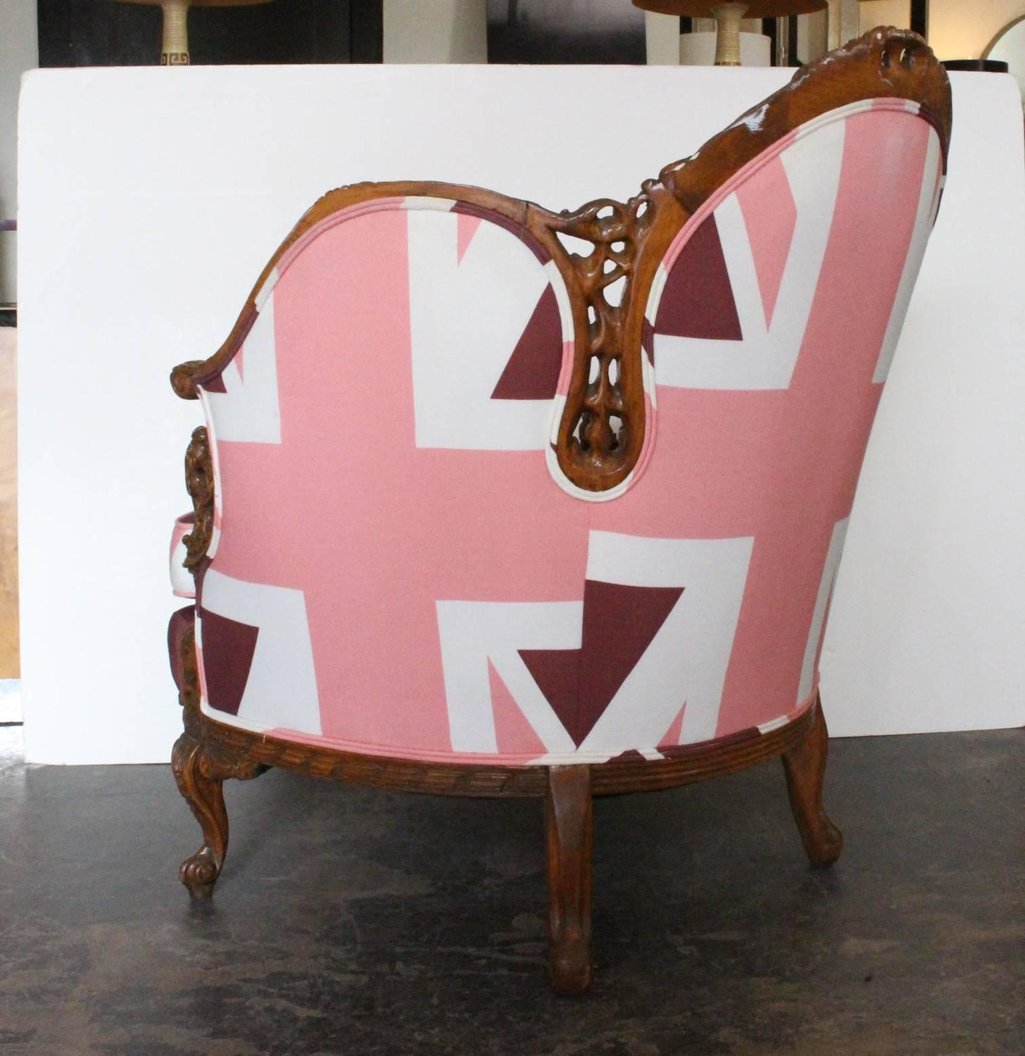 Pink Union Jack Upholstered Chair at 1stdibs