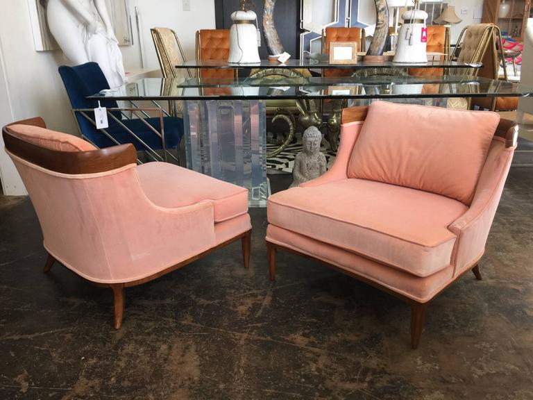 Mid-Century Modern Pair of Tomlinson Slipper Chairs by Erwin Lambeth For Sale