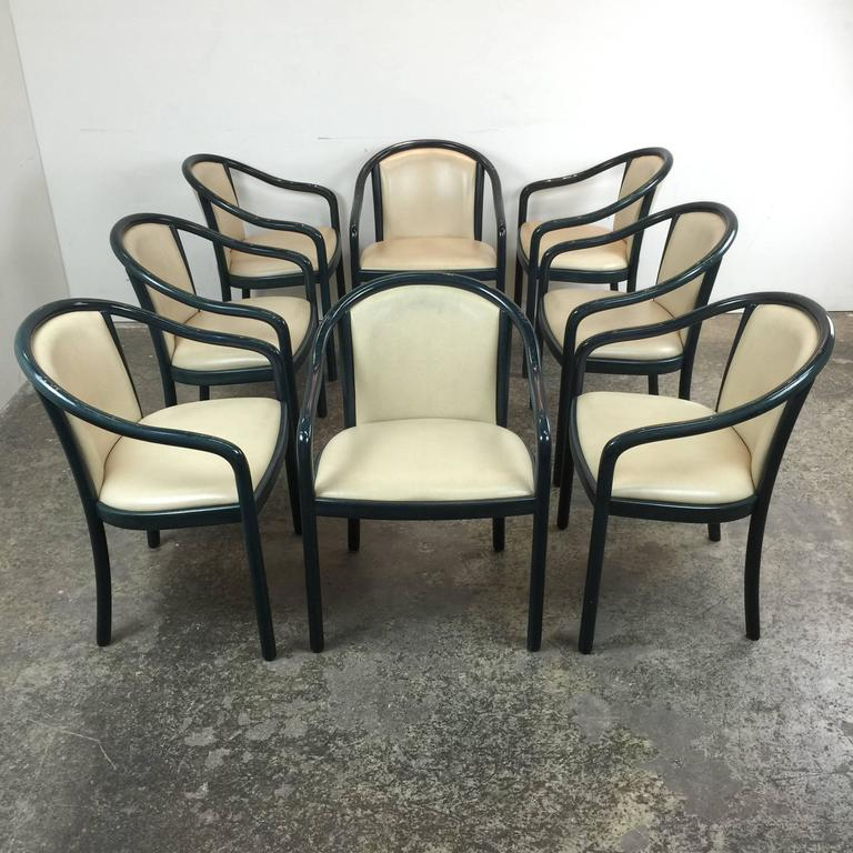 Set Of 8 Italian Dining Chairs In The Style Of Ward