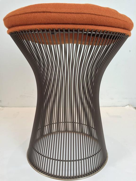Rare Pair of Bronze Stools by Warren Platner In Excellent Condition For Sale In Dallas, TX