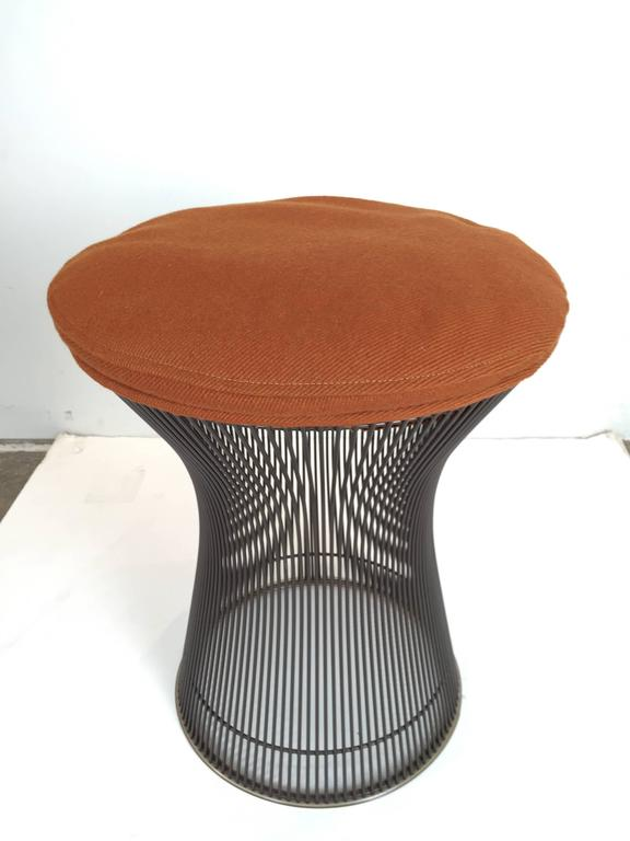 20th Century Rare Pair of Bronze Stools by Warren Platner For Sale