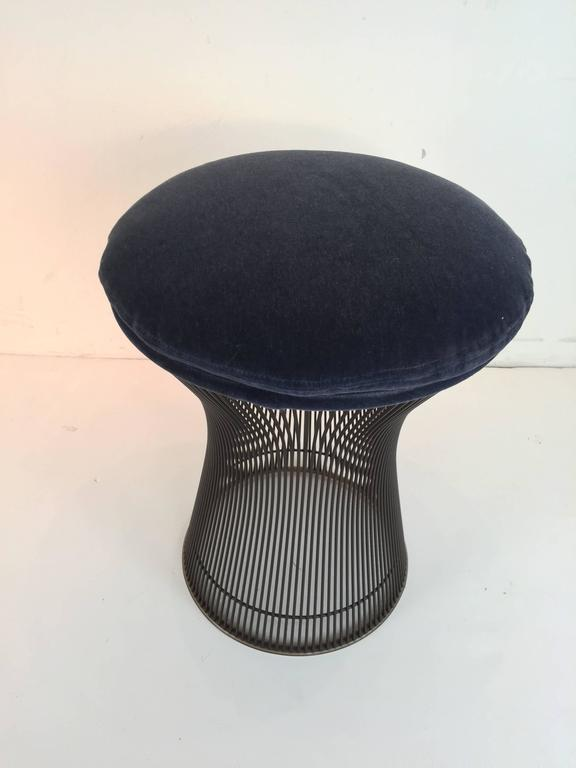 American Rare Pair of Bronze Stools by Warren Platner For Sale