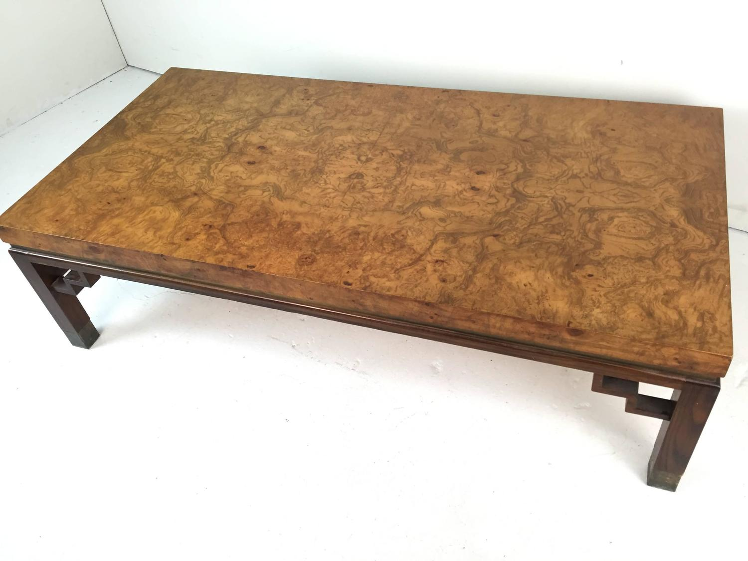burl coffee table for sale