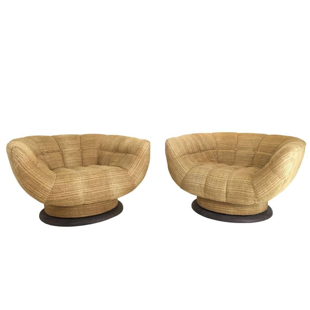 Rare And Monumental Swivel Tub Chairs By Adrian Pearsall At 1stdibs