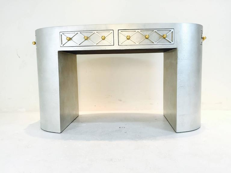 Glamorous Oval Vanity Table For Sale At 1stdibs
