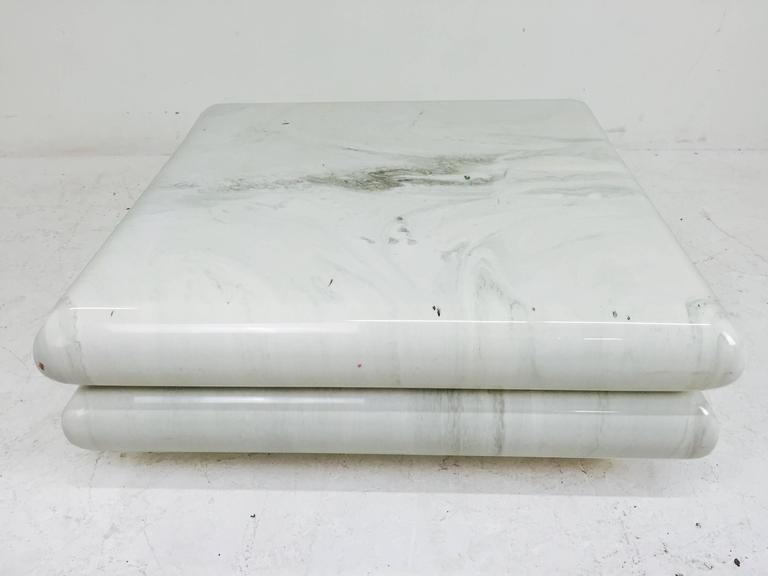 Faux Marble Coffee Table By Directional For Sale At 1stdibs