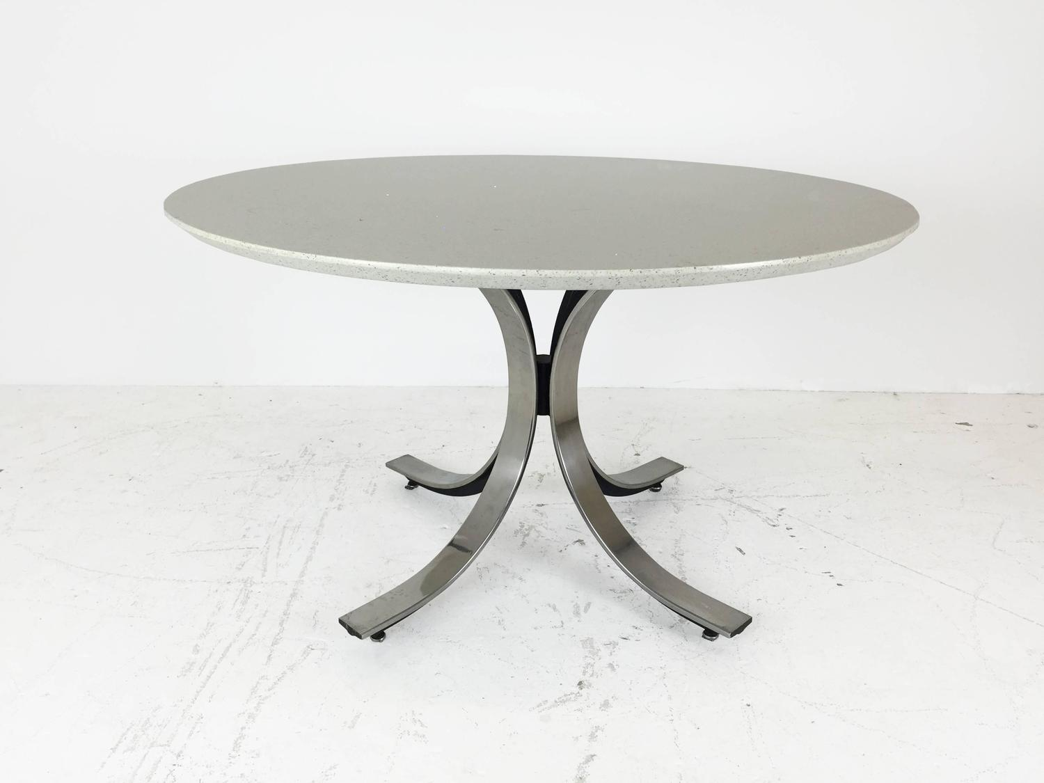Four Legged Chrome Base Round Dining Table with White  : IMG1398copyz from www.1stdibs.com size 1500 x 1125 jpeg 69kB