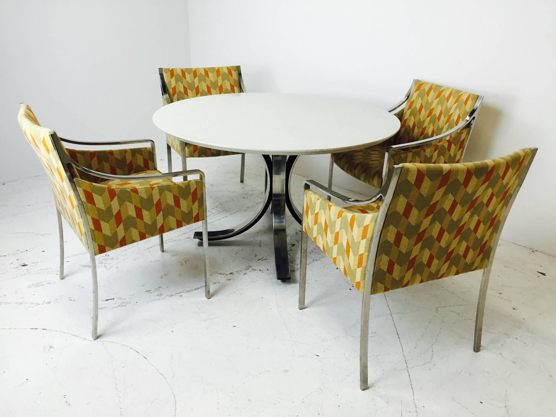Four Legged Chrome Base Round Dining Table with White  : FullSizeRender102z from www.1stdibs.com size 1500 x 1125 jpeg 136kB