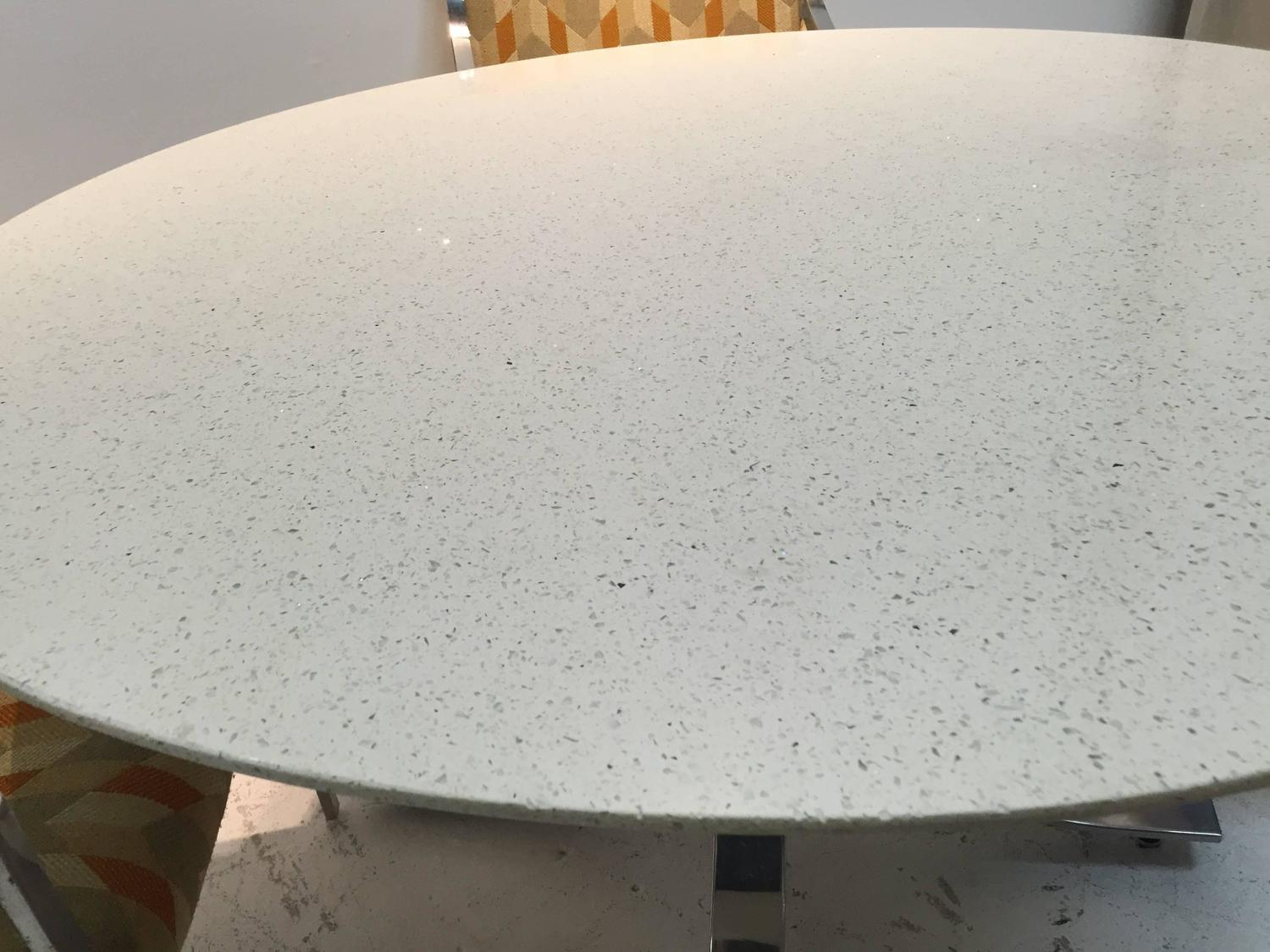 Four Legged Chrome Base Round Dining Table with White  : IMG1383z from www.1stdibs.com size 1500 x 1125 jpeg 142kB