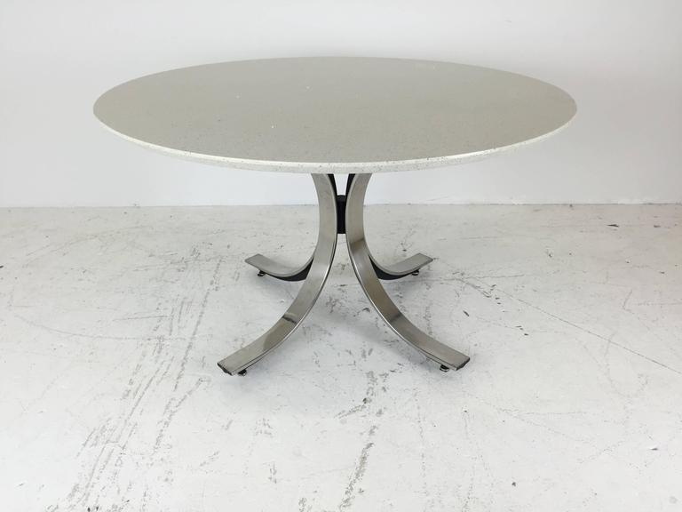 Four Legged Chrome Base Round Dining Table with White  : IMG1396copyl from www.1stdibs.com size 768 x 576 jpeg 29kB