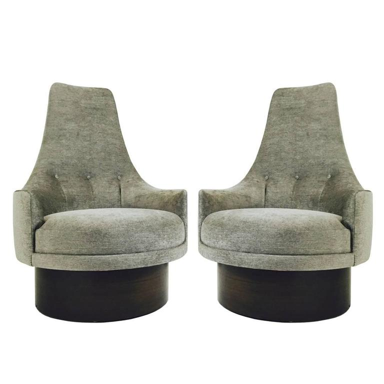 High back swivel chairs by Adrian Pearsall For Sale at 1stdibs