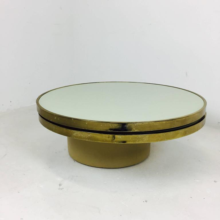 Swivel Brass And Glass Coffee Table By Dia Design Institute America For Sale At 1stdibs