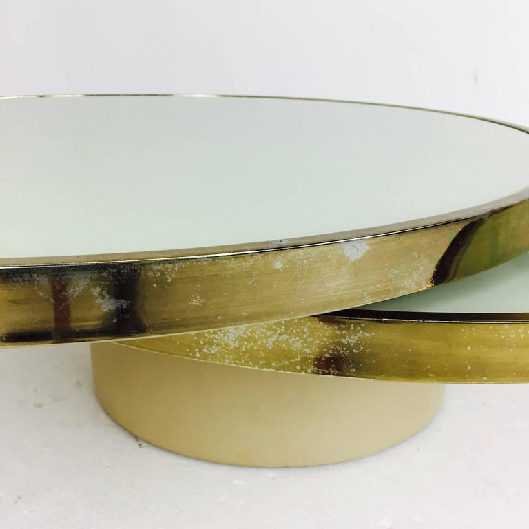 Larayia Swivel Glass Coffee Table: Swivel Brass And Glass Coffee Table By DIA