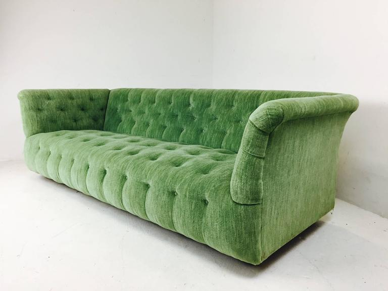 Milo baughman chesterfield style tufted sofa for sale at for Tufted couches for sale