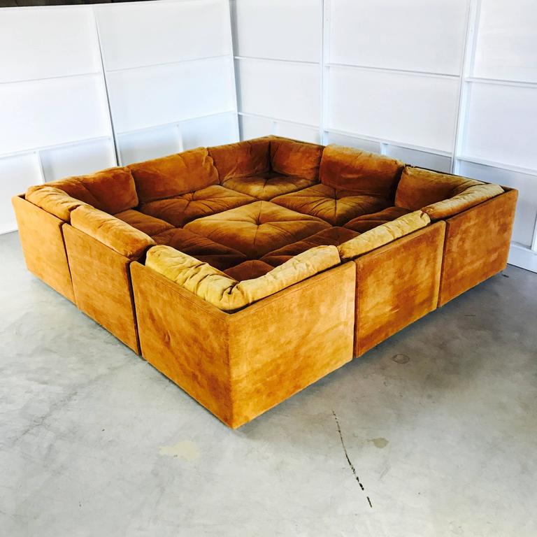 Ten-Piece Sectional Sofa Pit in the Style Milo Baughman by ...