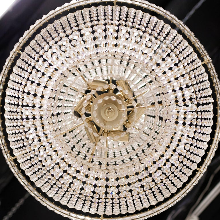 Nine-Light Crystal Chandelier For Sale 2