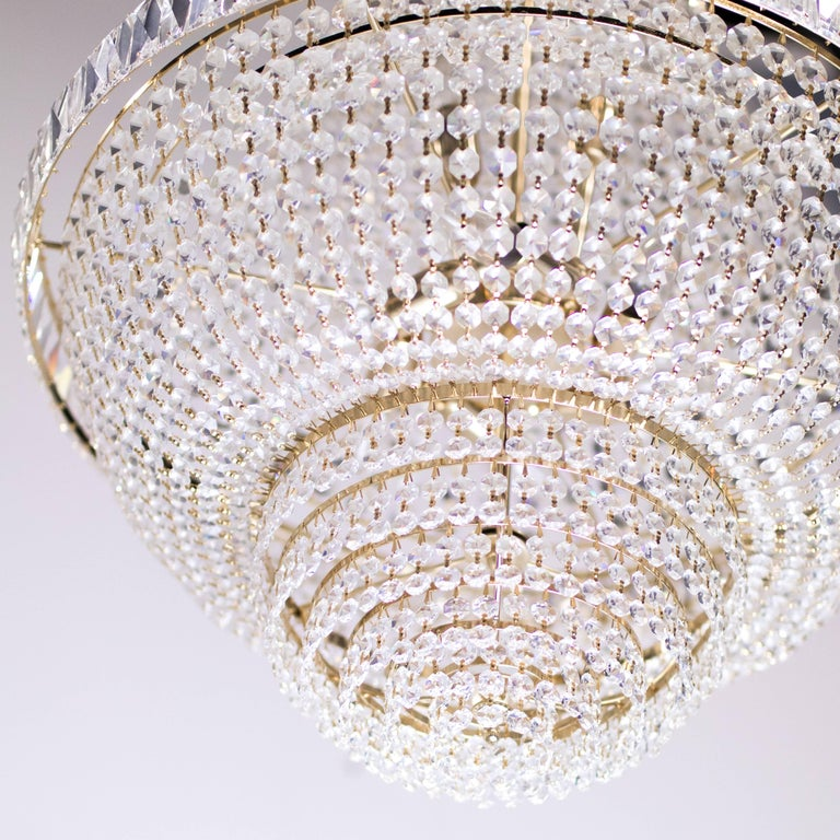 20th Century Nine-Light Crystal Chandelier For Sale