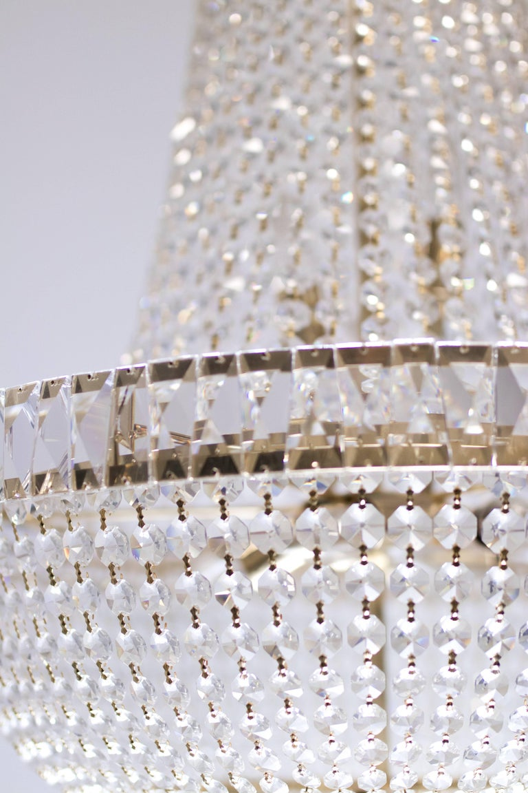 Nine-Light Crystal Chandelier For Sale 1