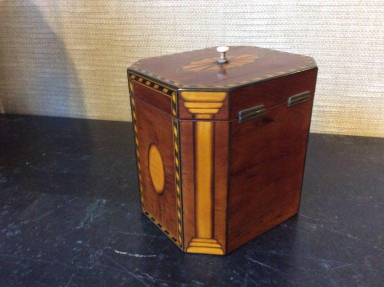 English Single Georgian Style Tea Caddy For Sale