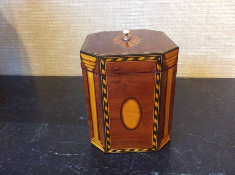Single Georgian Style Tea Caddy In Excellent Condition For Sale In Highland Park, IL