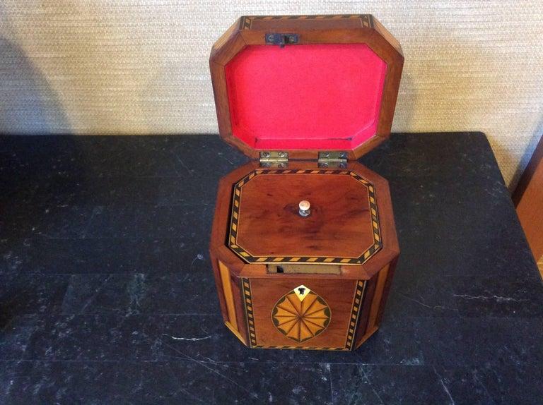 20th Century Single Georgian Style Tea Caddy For Sale