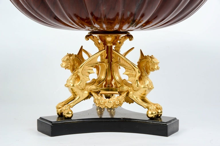Red marble centerpiece for sale at stdibs