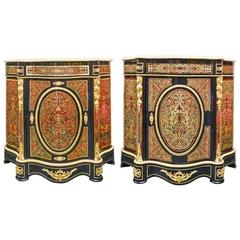 Rare Pair of Cabinet in the Taste of the Cabinet-Maker Charles Boulle