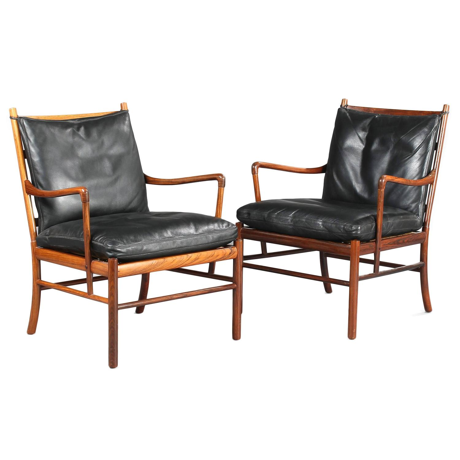 Colonial Armchair: 'Colonial' PJ149 Armchairs And Ottoman In Rosewood By O