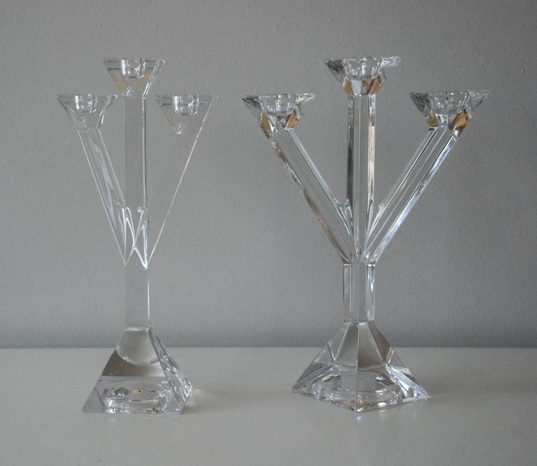 Villeroy and boch pair of lead crystal candleholders for Villeroy boch crystal
