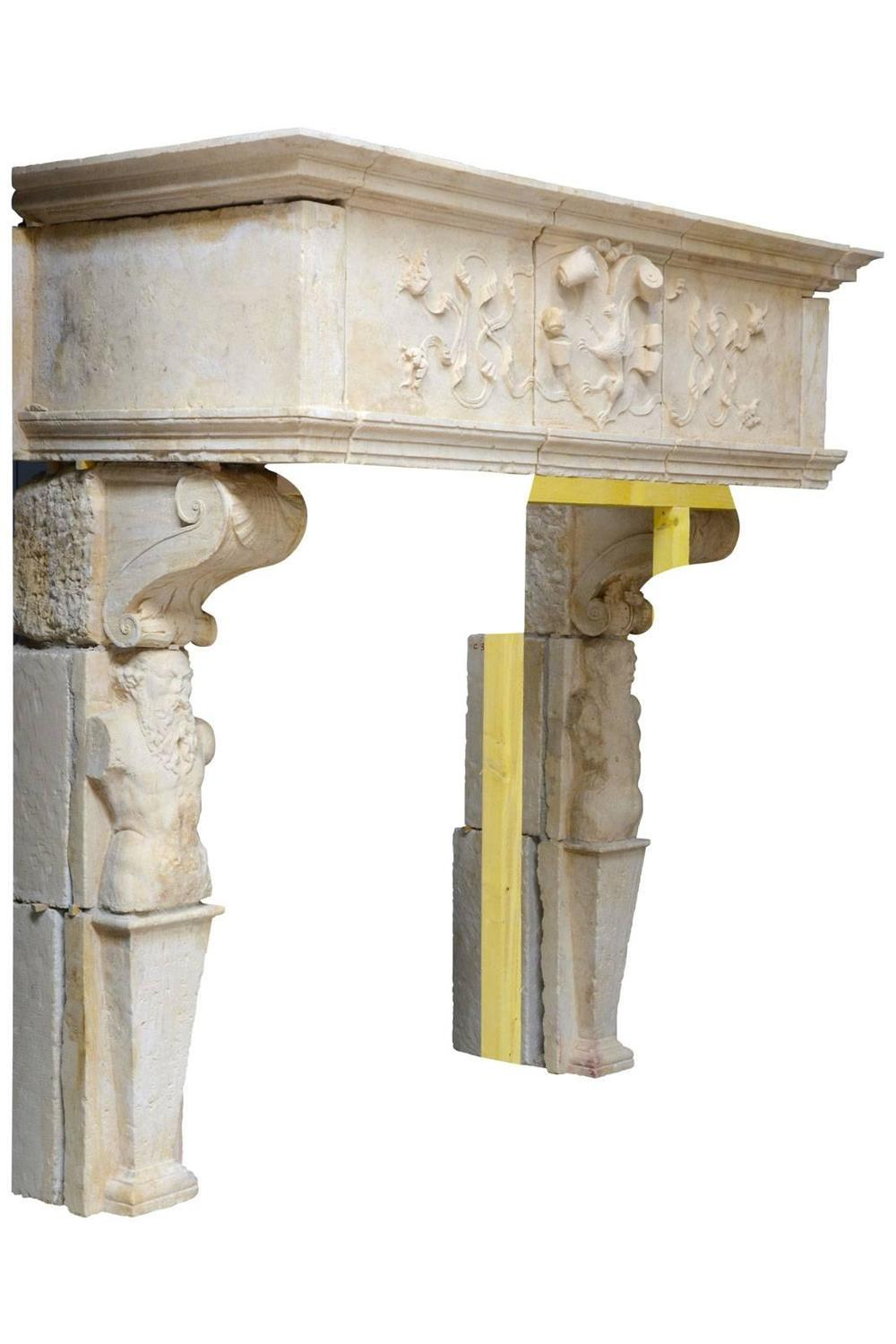Exceptional Renaissance Bourgogne Stone Fireplace 16th Century For Sale At 1stdibs