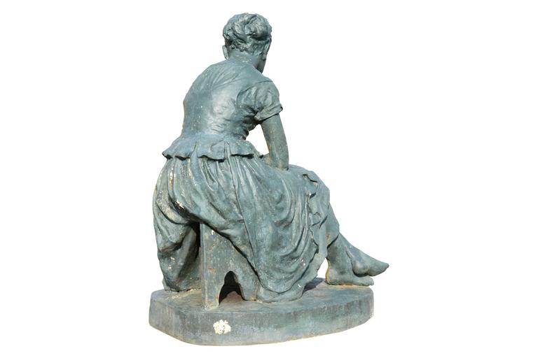 Cast Iron Statue Representing Cinderella, 19th Century For Sale at ...