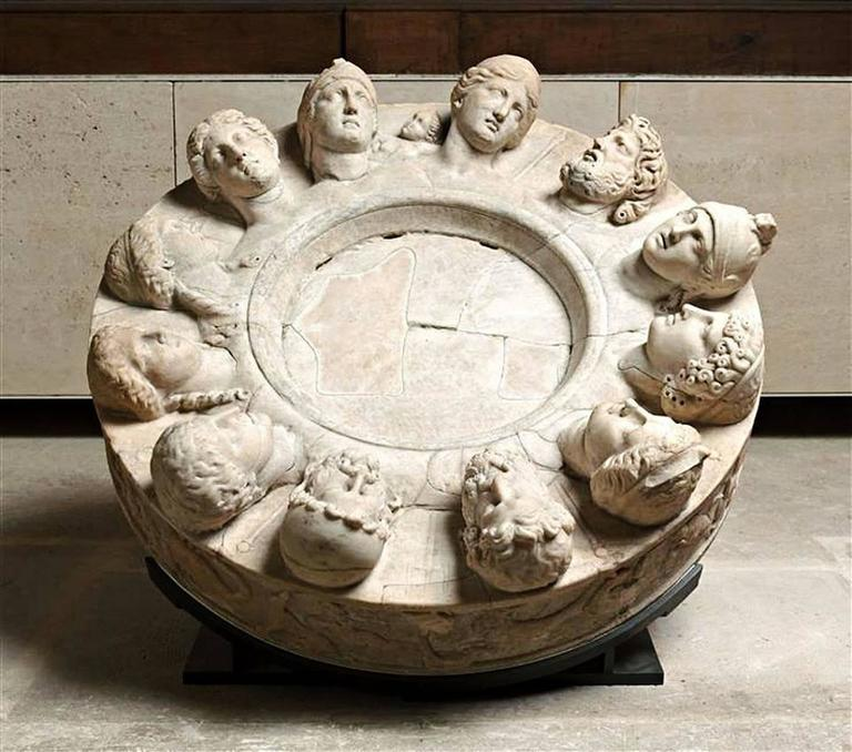 Stone Altars For Sale: Old Composite Stone Altar Serving As Sundial, 19th Century