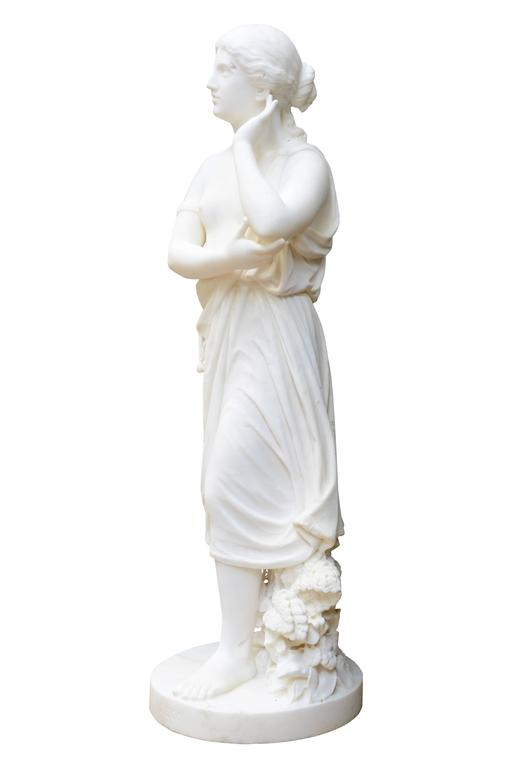 White Marble Statue : White carrara marble echo statue th century for sale at