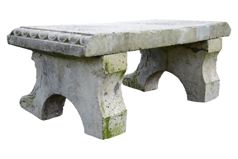 French Gothic Style Stone Entablature, 19th Century For Sale