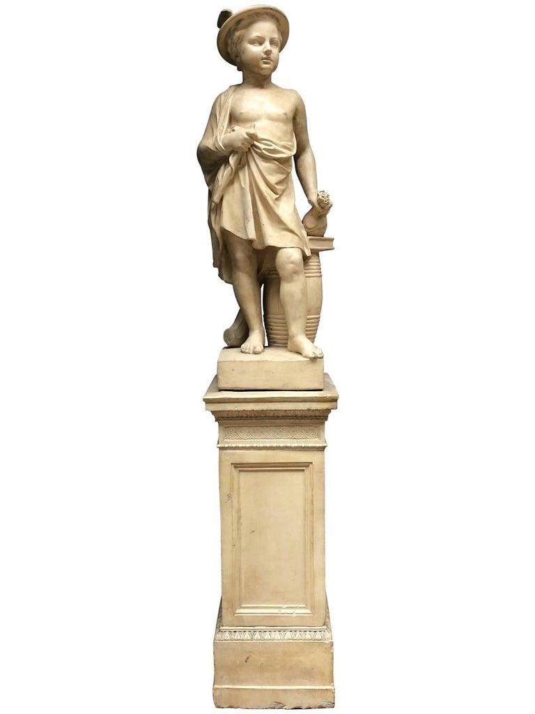 Pair of Neoclassical Terracotta Statue Representing Vulcan and Mercury 3