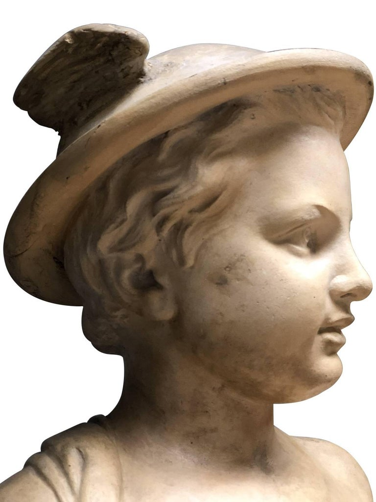 Pair of Neoclassical Terracotta Statue Representing Vulcan and Mercury For Sale 5