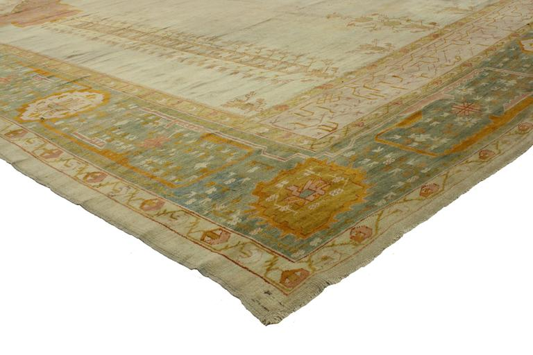 Antique Turkish Oushak Prayer Rug West Anatolia For Sale