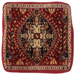 Antique Persian Ghashghaei Pillow Poshti Cushion, Floor Pillow, Floor Cushion