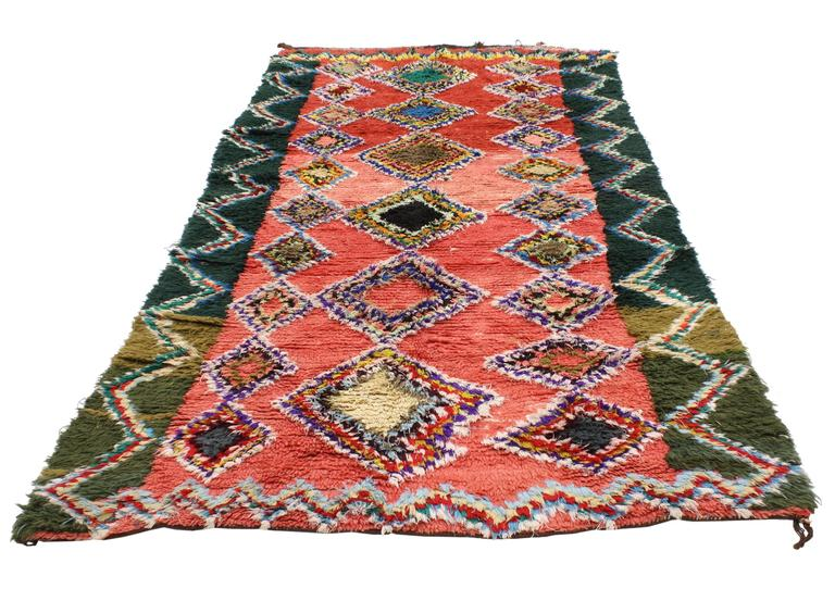 Boho Chic Vintage Berber Moroccan Rug with Modern Tribal Design 3