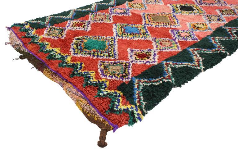 Boho Chic Vintage Berber Moroccan Rug with Modern Tribal Design 2